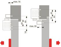 Türschliesser DORMA TS93B, mit Gleitschiene