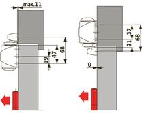 Türschliesser DORMA TS90 Impulse, mit Gleitschiene