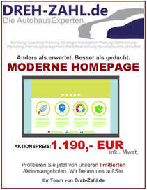 Dreh-Zahl Angebot neue Homepage