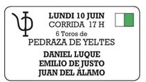 Toros de Pedraza de Yeltes pour Daniel Luque, Juan del Alamo et Miguel Angel Pacheco