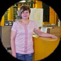 Fertigungsplanerin der OFB Oberflächenbearbeitung Kimax GmbH Steffi Mannigel