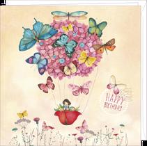 Carte double anniversaire illustrée par Mila