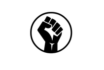 Black Fist Protest Flag