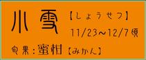 小雪【しょうせつ】:蜜柑【みかん】