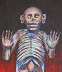Herrscher der Unterwelt (Mictlan) und Herr des Todes, Mictlantecuhtli
