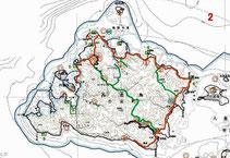 西表島の公園区域変更図