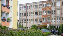 Flüchtlingsunterkunft in Berlin-Hellersdorf