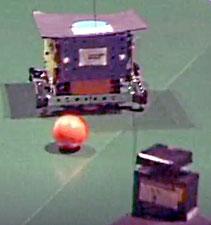 Robots footballeurs en action