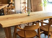 栃 テーブル 一枚板 広島