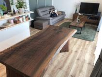ウォールナット 一枚板 テーブル 広島