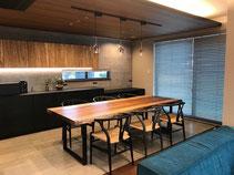 マンゴー 一枚板 テーブル 広島