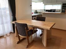 カエデ 一枚板 テーブル 広島