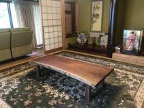 ブラックウォールナット テーブル 広島
