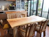 栃 一枚板 テーブル 熊本