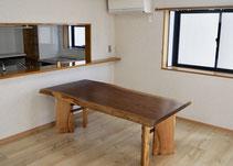 ブラックウォールナット 一枚板 テーブル 広島
