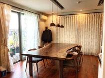 バストゥーンウォールナット 一枚板 テーブル 広島
