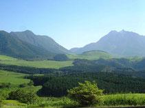 夏の由布岳(大分県)