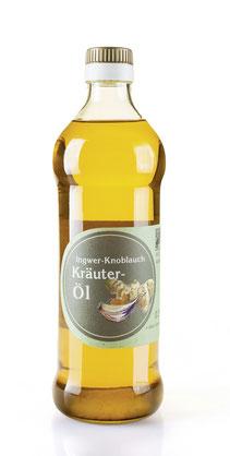 Kaltgepresstes Ingwer-Knoblauch-Kräuteröl