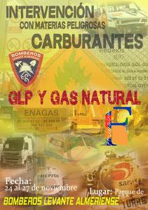 materias peligrosas MMPP bomberos levante almeriense GLP gas natural