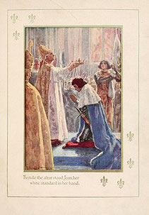 Sacre de Charles VII Par Marshall, H. E. (Henrietta Elizabeth), b. 1876 illustrarted by A.C. Mihael (https://archive.org/details/historyoffrance00mars) [Public domain], via Wikimedia Commons