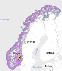 Netzabdeckung Norwegen : www.telia.no/dekning/
