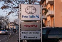 Neues Erscheinungsbild mit dem Toyota Logo, anstatt dem Logo von Garage Plus