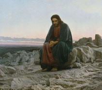 Иван Николаевич Крамской «Христос в пустыне» 1872 г.