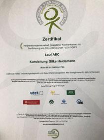 Zertifizierung Urkunde