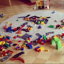 lego auf dem Boden