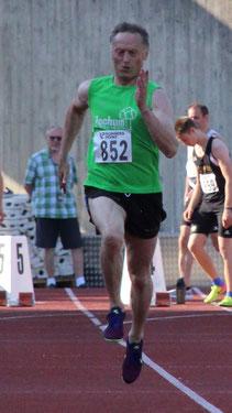 Alfred Just, hier beim 100m-Sprint im Rosenaustadion 2019