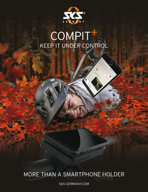 Auffällige Anzeigenmotive in Fachmagazinen für die Kampagne SKS Compit