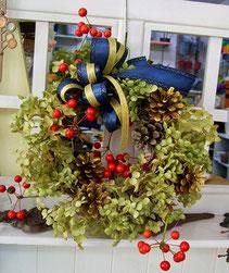 練馬 桜台 ガーデニングショップ かのはの 生徒さんの制作された アンティークなクリスマスリースです 練馬 桜台 ガーデニングショップ かのはの  かのはの hana 教室