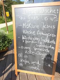 Tafel vor dem Gasthaus