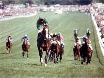 Shergar gewinnt unter Walter Swinburn das Epsom Derby mit 10 Längen Vorsprung.