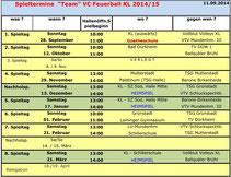 Spielplan 2014/15
