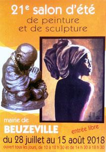Chris Jobert artiste sculptrice Honfleur expo Beuzeville Eure Salon d'été peinture sculpture