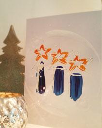 Designer Weihnachtskarte individuell für Ihre Firma, auf Wunsch gemalt und produziert