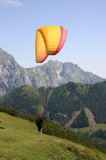Start von Ost mit der Flugschule Austriafly Salzburg Werfenweng