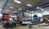Der Service von Kohlberg & Dreyer für LKWs mit Ladekrane, Aufbauten und Wechselsysteme.
