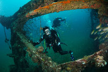 Exciting wreck diving on liveaboards in Thailand.