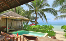 On Koh Phangan enjoy dream vacation at the most beautiful beach of the island.