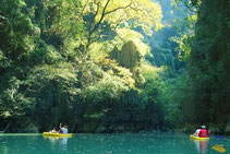 Erleben Sie einen tollen Kajakausflug in die Phang Nga Bay.