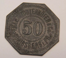 50 Pfennig Notgeld Münze