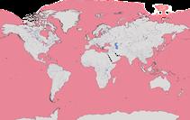 Karte zur Verbreitung der Familie der Sturmvögel (Procellariidae)