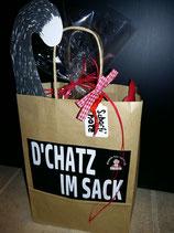 """Chatz im Sack"" Verpackung"
