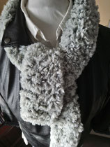 Bont sjaal grijs grizzely