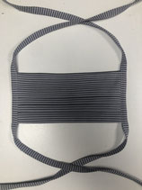 Facie02    Mund-Nasen-Maske antrazit / grau gestreift