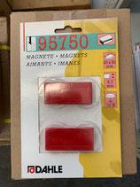 Dahle Magnet 23x50 2Stk. Rot
