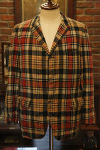 1960's  TAILORED 3B MADRAS CHECK  JACKET