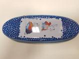 Portatodo metal ovalado Busquets Azul conejitos